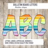 Bulletin Board Letters Rainbow