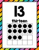 Rainbow Stripe Number and Alphabet Posters
