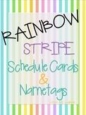 Rainbow Stripe Schedule Cards