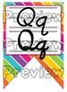 Rainbow Stripe themed print and cursive Alphabet banner