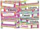 Rainbow Striped Bright Neon Themed editable nameplates