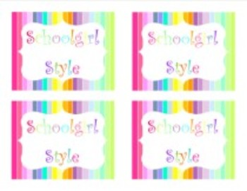 Classroom Decor Rainbow Striped Multipurpose Labels