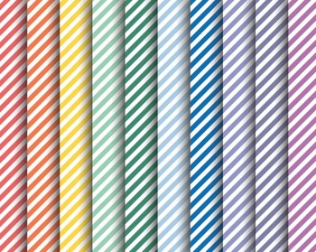 Rainbow Striped Papers, Rainbow, Striped, Set #231