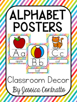 Rainbow Stripes ABC Posters