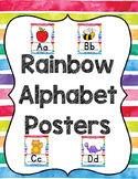 Rainbow Stripes Alphabet Posters