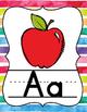 Rainbow Stripes Alphabet Posters