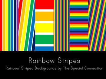 Rainbow Stripes Backgrounds