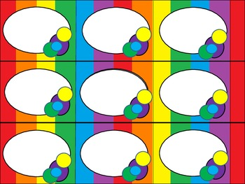 Rainbow Stripes CAFE Labels
