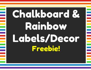 Rainbow Stripes & Chalkboard Labels