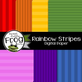 Rainbow Stripes Digital Paper