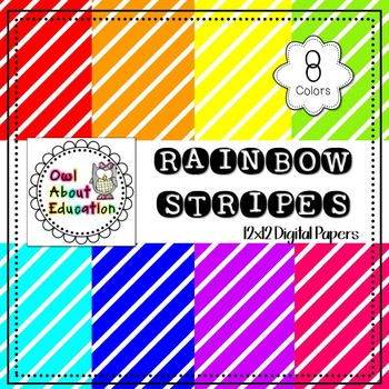 Rainbow Stripes - Digital Paper Pack