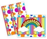 Rainbow Stripes & Dots Bulletin Board Set