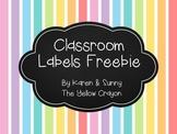 Rainbow Stripes Labels Freebie