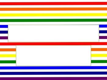 Rainbow Stripes PowerPoint Template