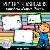 "Rhythm Flashcards ""Dotted Half Note & Whole Note"": Rainbow Stripes Theme"