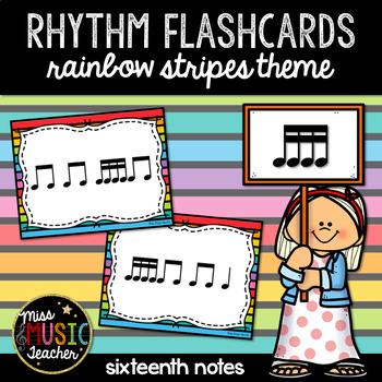 "Rainbow Stripes Rhythm Flashcards ""Tika-Tika"""
