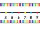 Rainbow Stripes Wall Number Line 0-120