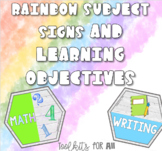 Rainbow Subject Signs and Learning Objectives