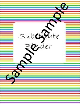 Rainbow Substitute Binder