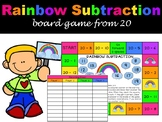 Rainbow Subtraction Board Game - Subtracting from 20