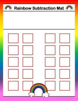 Rainbow Subtraction Math Activity