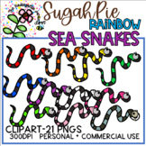 Rainbow SugahPie Sea Snakes - KGJ Clipart