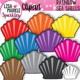 Rainbow Summer Beach Sea Shell Clipart