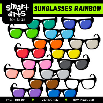 Rainbow Sunglasses Clip Art
