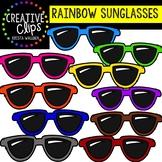 Rainbow Sunglasses: Summer Clipart {Creative Clips Clipart}