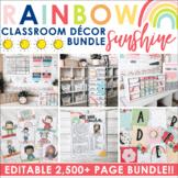 Rainbow Sunshine Classroom Decor & More Collection