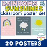 Rainbow & Sunshine Classroom Posters