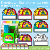 Rainbow Sunshine Labels / Name Tags for the Classroom {Editable}