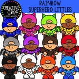 Rainbow Superhero Littles {Creative Clips Clipart}