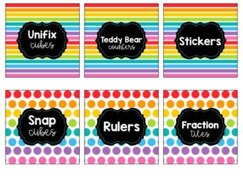 Rainbow Supply Labels EDITABLE