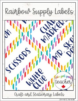 Rainbow Supply Labels - FREEBIE
