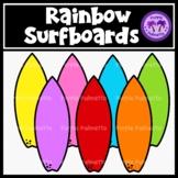 Rainbow Surfboards Clipart