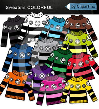 Rainbow Sweaters Clipart