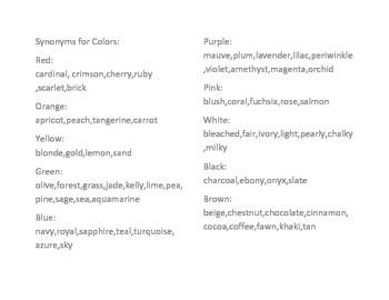 Rainbow Synonyms