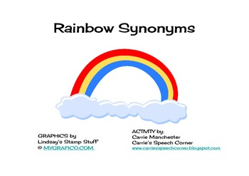 Rainbow Synonyms - Carrie's Speech Corner