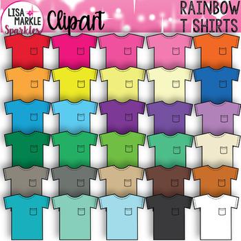 Rainbow T Shirt Clothing Clipart