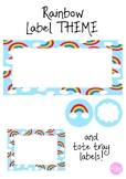 Rainbow THEME labels and signs