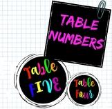 Rainbow Table Numbers!