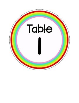 Rainbow Table Numbers