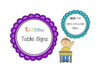 Rainbow Table Signs and Mini Signs