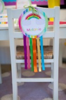 Classroom Decor Rainbow Table and Center Signs