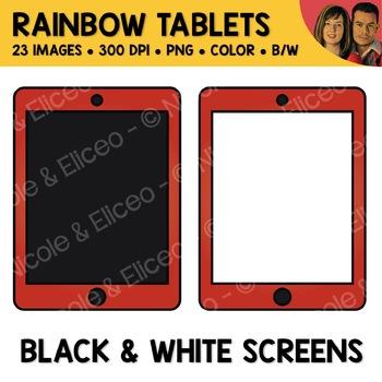 Rainbow Tablet Clipart