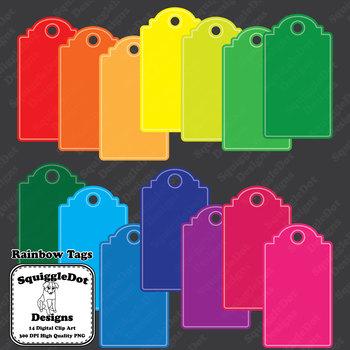 Rainbow Tags Clip Art