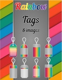 Rainbow Tags Clip Art