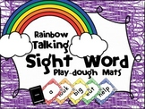 Rainbow Talking Sight Word - Center Activity - Play-dough