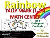 Rainbow Tally Mark Math Center - Kindergarten Spring